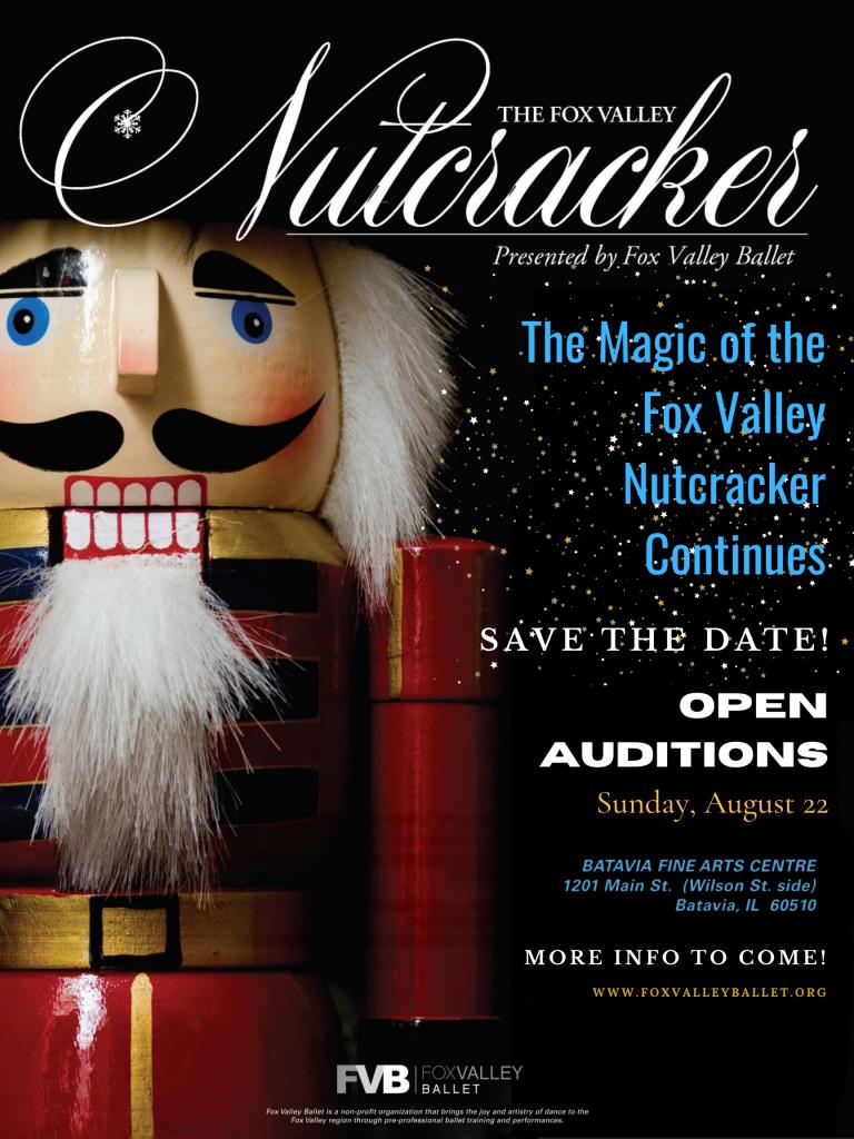 Fox Valley Nutcracker 2021 Auditions Flyer